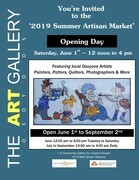 Summer Artisan Market 2019 at The ART GALLERY Osoyoos