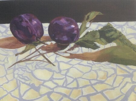 Plums on Mosaic