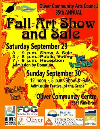 Oliver Festival of the Grape Art Show and Sale Saturday, Sept 29, '18