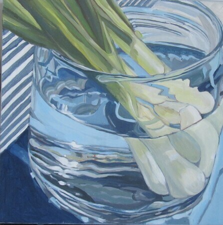 Scallions in Glass